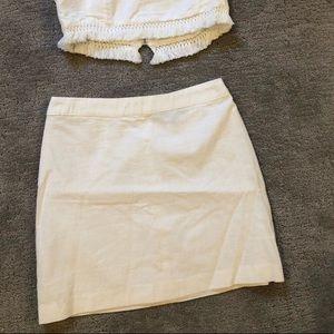 Lulu's- White linen mini skirt - size Small